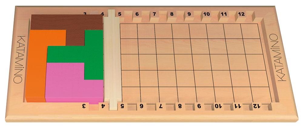 Plateau avec le penta A 4 résolu.